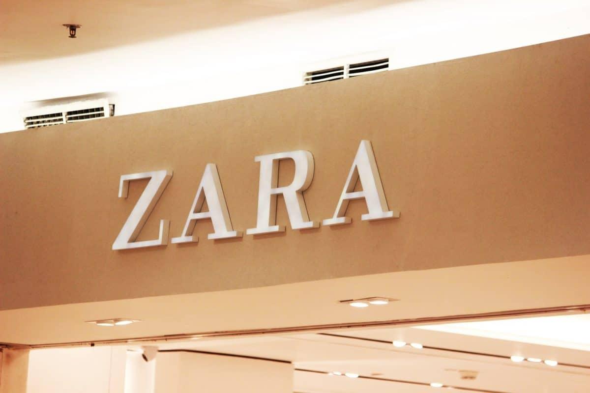 Zara signage inside building